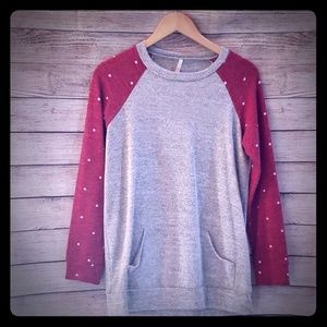 My Story Grey tunic length sweater